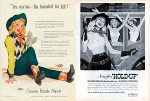 Western Dames in Vintage Art and Advertising 02